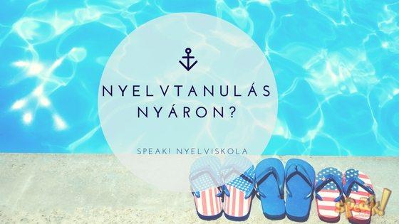 Nyelvtanulás nyáron?