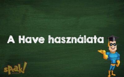 A Have használata az angolban